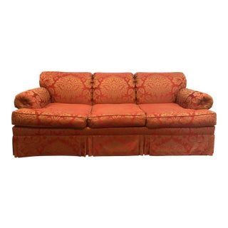 Crimson Damask Pomegranate Print Sofa
