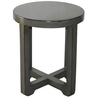 Gray Lacquered End Table