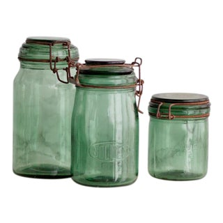 Vintage French Canning Jars - Set of Three