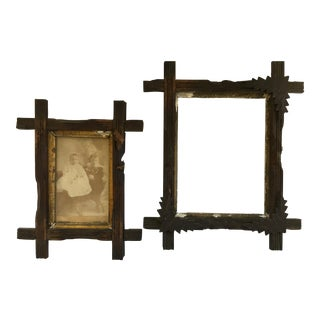 1800's Wooden Frames - A Pair