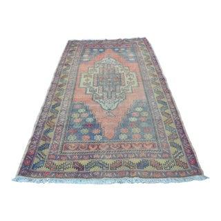 Turkish Tribal Floor Rug - 4′9″ × 8′10″