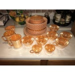 Image of Fire King Peach Orange Collection Dinnerware -S/31