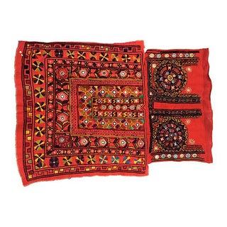 Embroidered Banjara Textile Fragment