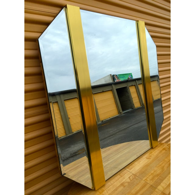 Retro Octagon Beveled Glass Mirror - Image 3 of 9