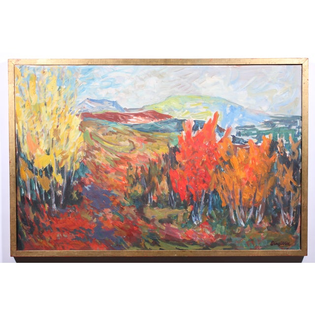 "Vintage ""Autumn Color"" Oil Painting - Image 2 of 3"