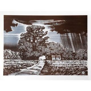 """John Sherrill Houser """"Storm Clouds"""" Lithograph"""