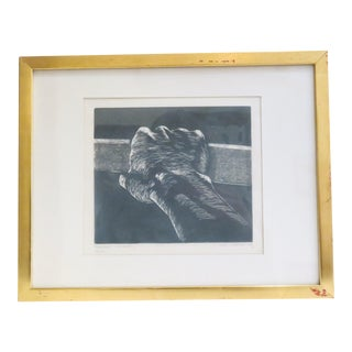 Vintage Signed Hand Etching