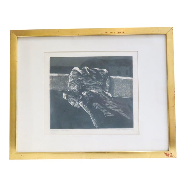 Image of Vintage Signed Hand Etching