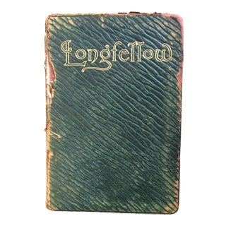 1901 Longfellow Green Embossed Leather Poetry Book
