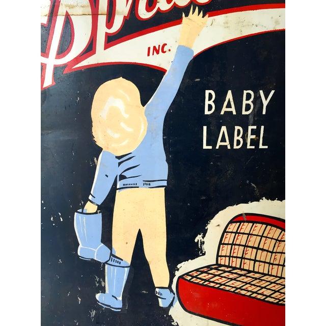 Vintage Spradling's Dallas Texas Trade Sign - Image 5 of 7