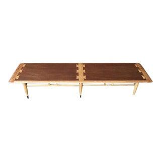 Mid Century Lane Acclaim Walnut Dovetail Inlay Coffee Table