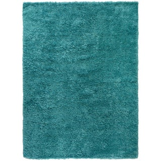 Turquoise Contemporary Shag Rug