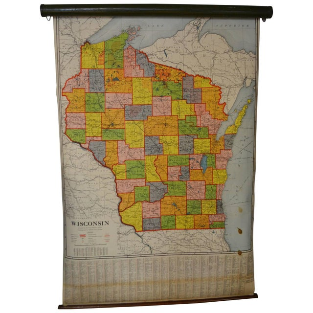 Classroom Map of Wisconsin Wall Mount - Image 1 of 10