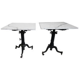 Industrial Adding Machine Tables with Marble