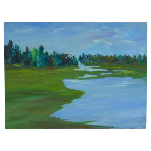 H.L. Musgrave MCM Painting of Flowing River - Image 1 of 6
