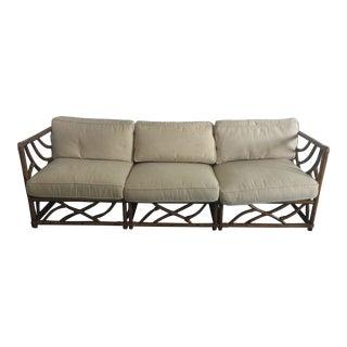 Ficks Reed Rattan Bamboo Sofa