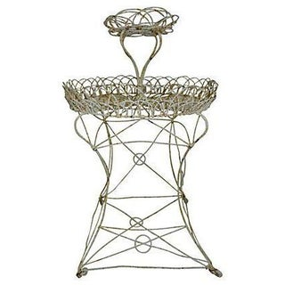 Antique French Wire Planter