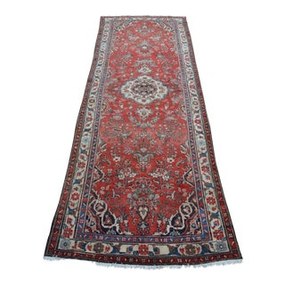 Antique Persian Rug Runner - 3′8″ × 10′6″