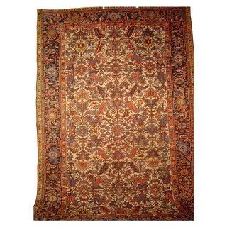 """Antique Persian Heriz Carpet - 7' 11"""" x 11' 6"""""""