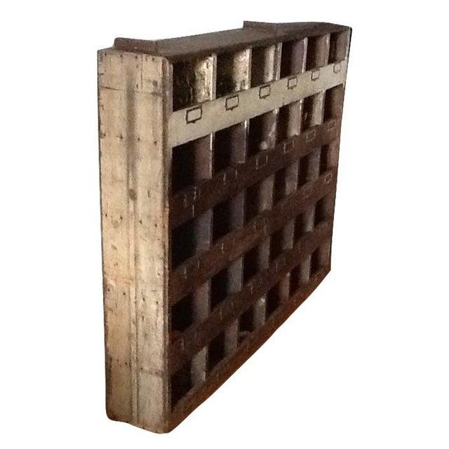 Vintage Industrial Wood Pigeon Hole Storage Shelves - Image 5 of 10