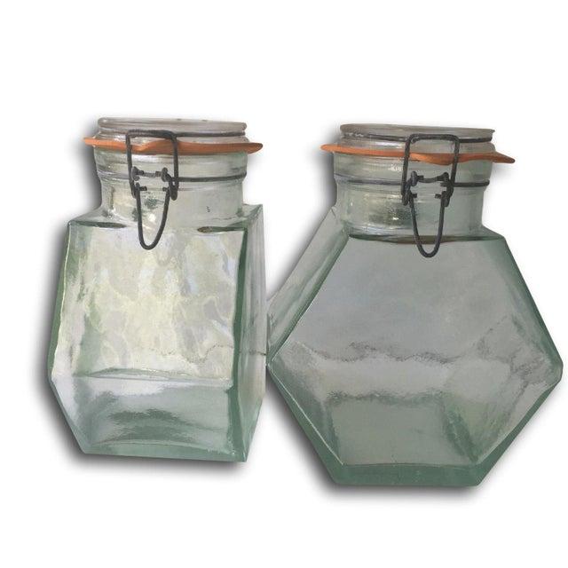 Vintage Hermetic Glass Jars - A Pair - Image 2 of 5
