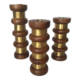 Danish Candle Holders - Set of 3