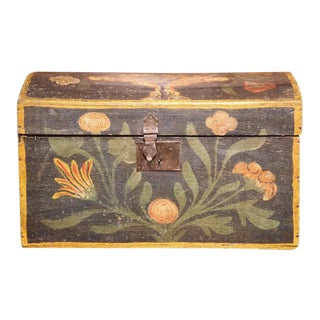 18th Century French Hand Painted Floral Wedding Box