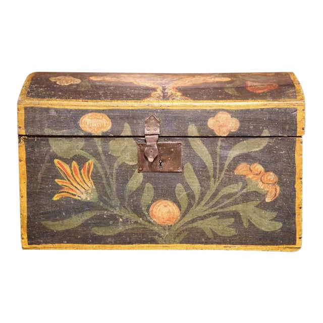 18th Century French Hand Painted Floral Wedding Box - Image 1 of 9