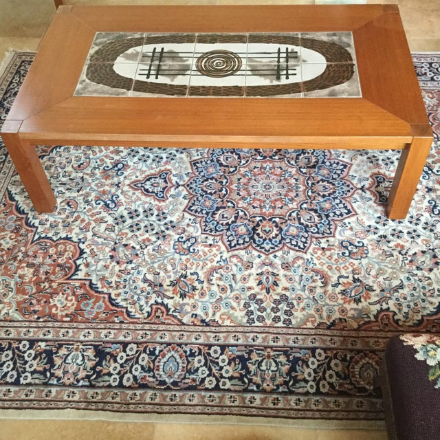 Danish Modern Tile Top Coffee Table - Image 2 of 7