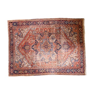"Distressed Persian Heriz Rug - 8'10"" X 11'11"""