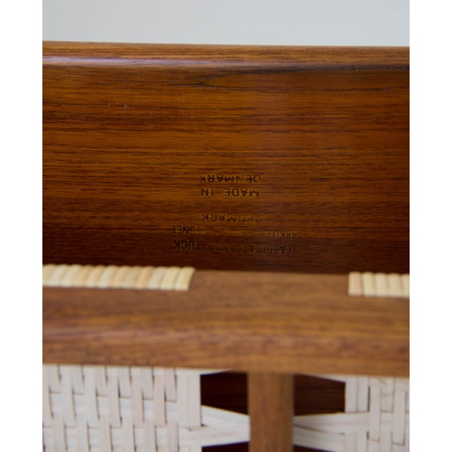 Hans Wegner AT-10 Coffee Table with Cane Shelf - Image 7 of 8