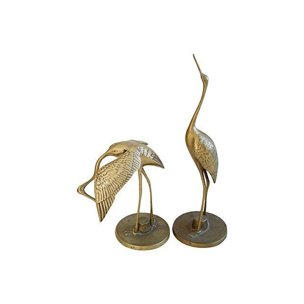 Mid-Century Brass Cranes - A Pair - Image 3 of 4