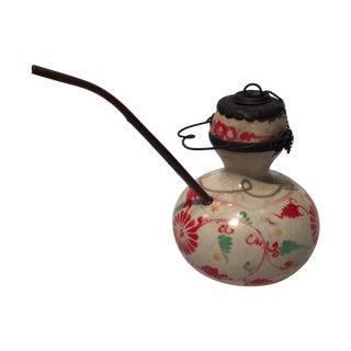 Vintage Floral Design Opium Pipe