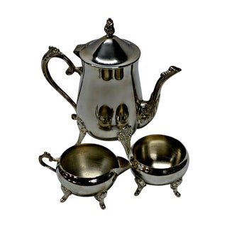 Silver Plated Footed Coffee Set