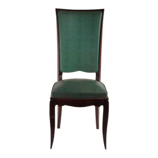 Rene Prou Fine Set of Six Dining Chairs