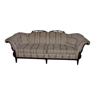 French Style Tufted Arms Carved Sofa Couch