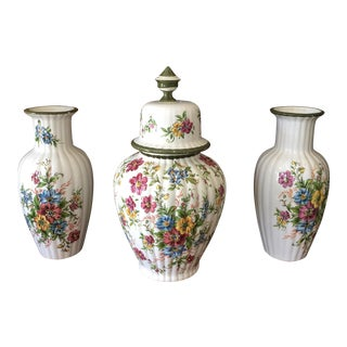 Floral Dutch Collection of Ceramic Vases - Set of 3