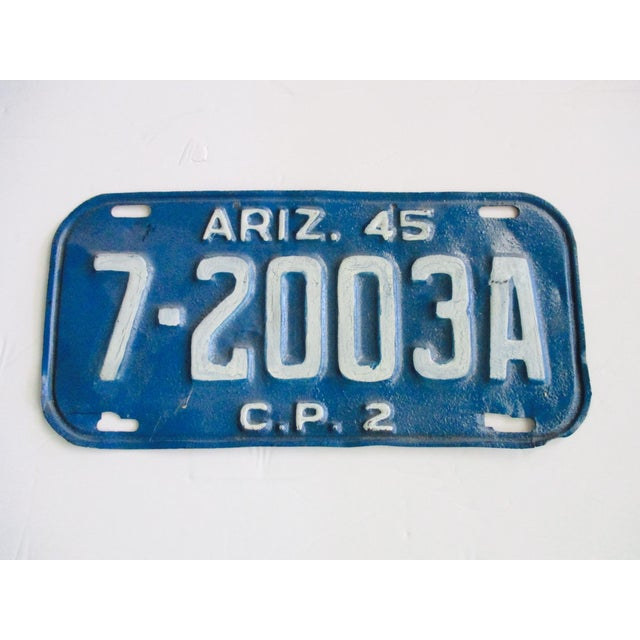 Arizona Az 1945 License Plate - Image 2 of 3