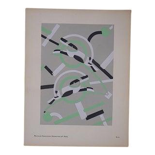 "Serge Gladky Vintage ""Abstracted Rabbits"" Ltd. Ed. Pochoir Print, Circa 1928"