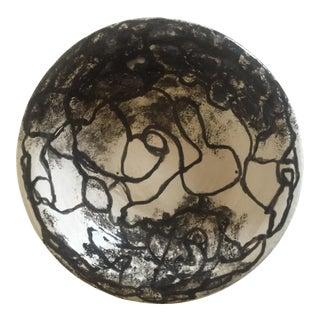 Vintage Moise Gross Black & White Studio Pottery Bowl