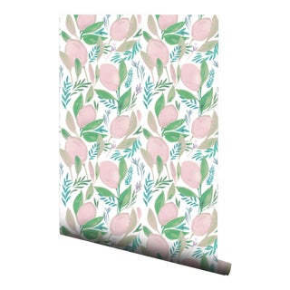 Pink Lemonade Patterned Pre-Pasted Double Wallpaper Roll