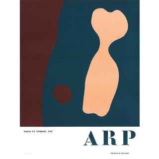 "Jean Arp ""Torso and Navel"" Lithograph, 1986"