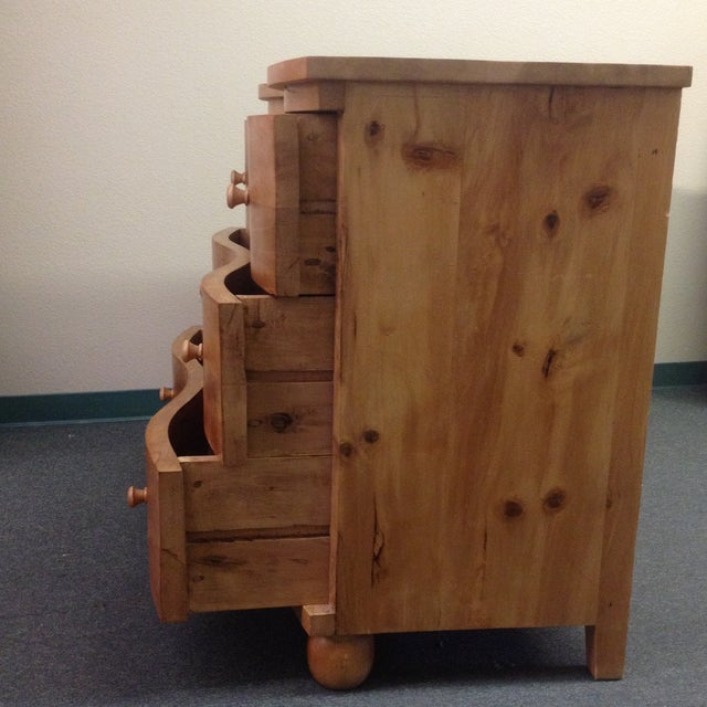 Large Curved Front Three Drawer Dresser - Image 6 of 9