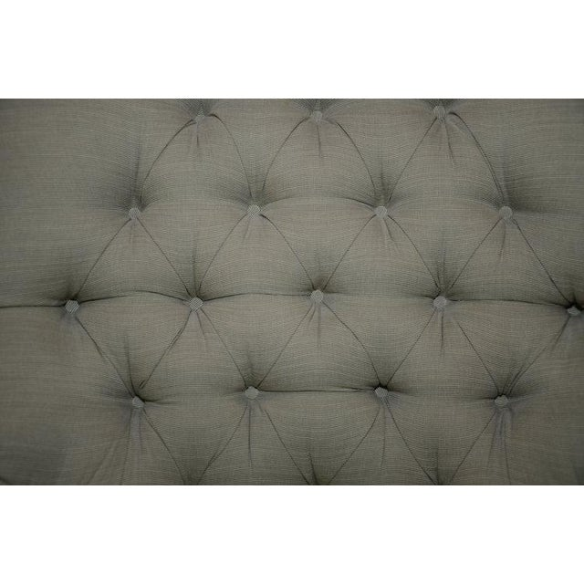 Upholstered Fern Green Tufted Chairs - A Pair - Image 5 of 7