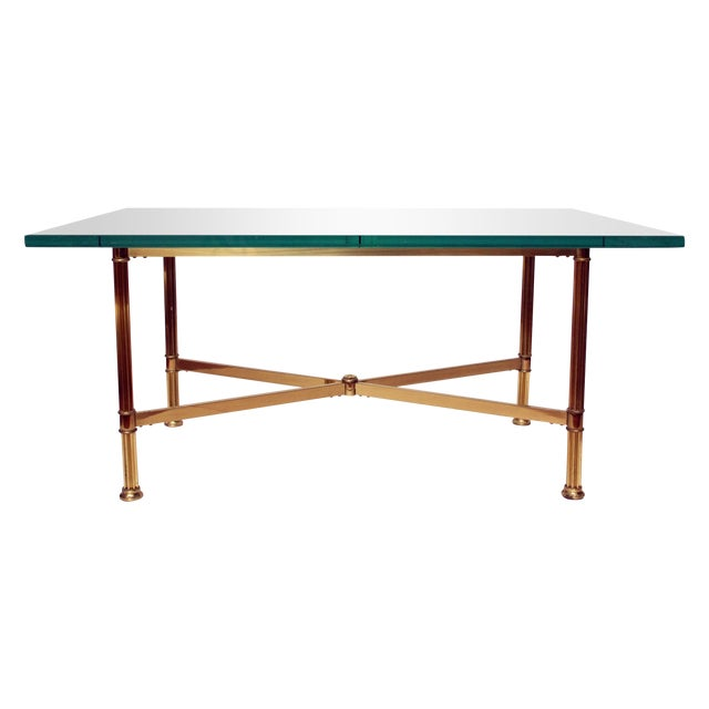 La Barge Style Brass Cocktail Table - Image 1 of 8