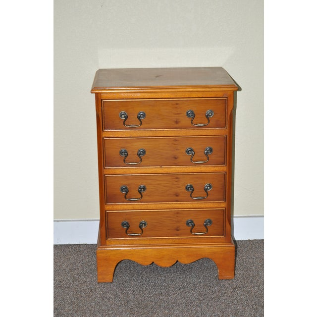Image of Vintage Yew Wood Miniature Chest of Drawers