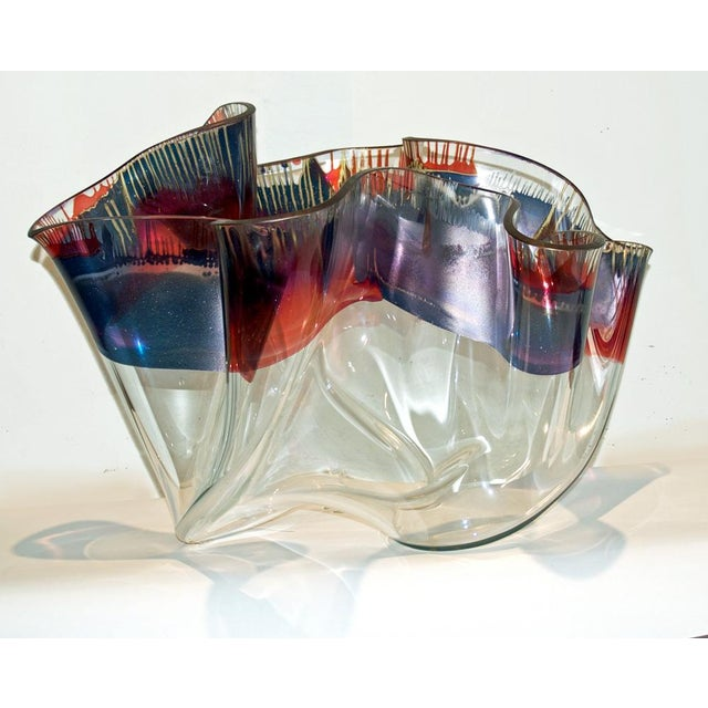 Laurel Fyfe Fazzoletto Slumped Glass Sculpture - Image 2 of 5