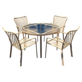 Mid-Century Brown Jordan Outdoor Dining Set