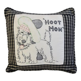 Vintage Scottish Terrier Hand-Stitched Feather/Down Pillow