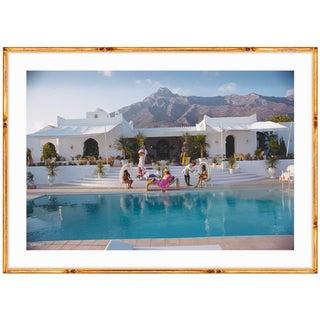Slim Aarons 'El Venero' (Marbella, Spain, 1971) C-type Print in Gold Bamboo Frame